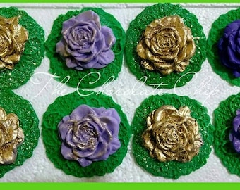 Fondant Princess and The Frog Lilly pad cupcake toppers