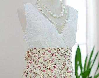 Yellow bridesmaid dress vintage prom dress 50's party dress floral dress Yellow party dress tea dress summer sundress short bridesmaid dress