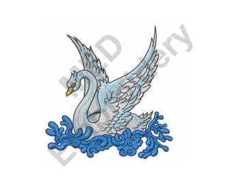 Swan - Machine Embroidery Design