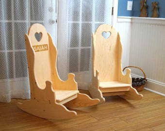 Rocking Chair, Rocking Chair for Kids, Rocker, Custom Kids Gift, Kids Rocking Chair, Farmhouse Kids Furniture, Christmas Ideas for Kids