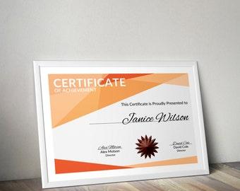 Multipurpose Certificate PSD Template