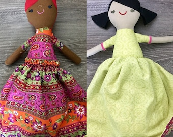 Flowers and Spring Topsy Turvy Doll