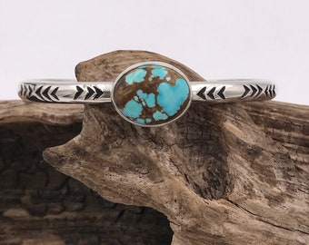 No8 Turquoise Stacker Cuff M/L