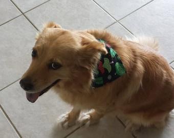 Dog Pet Bandana Christmas Ornament Hankerchief S M L XL