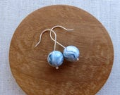 Marble Ball Hook Earrings...