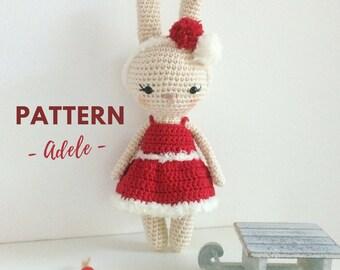 Adele | Crochet Bunny, Crochet Pattern, Crochet Bunny Pattern, Amigurumi Pattern, Amigurumi Bunny, Amigurumi Bunny Pattern, PDF