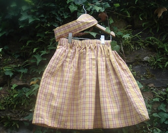 girl skirt and matching headband