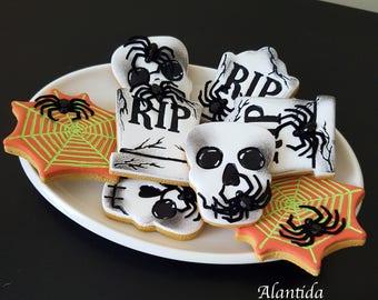 Set of 10 Fake Halloween Cookie Fake Cookies Halloween Candy Faux Cookies Cookiee