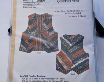 Girl's strip quilted vest sewing pattern