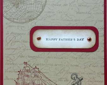 Father's Day Card, Stampin Up Card, Handmade Card, Stampin Up Father's Day Card, Greeting Card, Masculine Card, Nautical Card