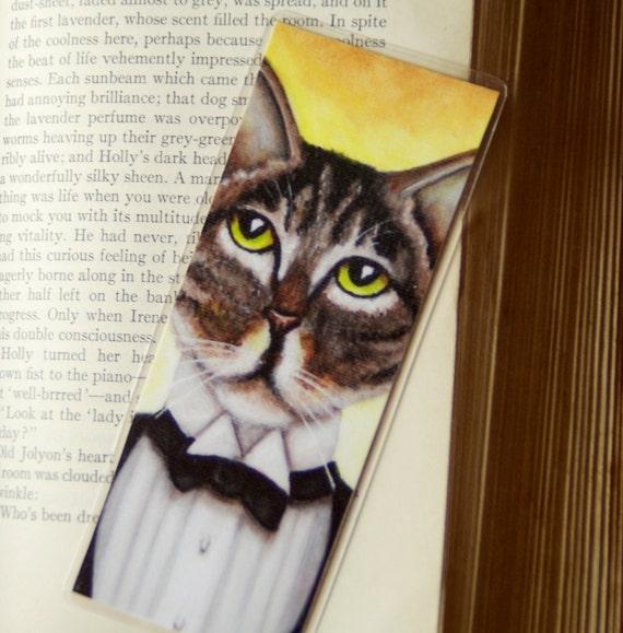 Jay Gatsby Grey Brown Tabby Cat Bookmark