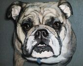 Custom Dog Portrait Acrylic paints, original painting from your photo, pet portrait from picture, cat portrait.