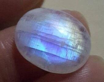 Rainbow moonstone natural plain oval shape cabochon- 14mm x 18mm x 5mm - STK-33-WRL08