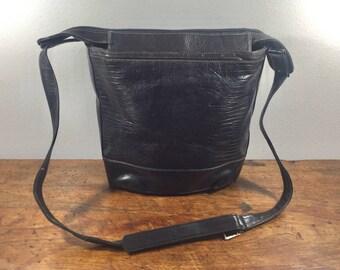 Lanvin Paris, Made in Italy, Black Leather Purse, Bag, Shoulder Bag