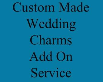 Custom Made Wedding Bouquet Charm SERVICE - ADD ON for your Wedding bouquet charm kit - Great Wedding gift for Bridal Wedding Shower