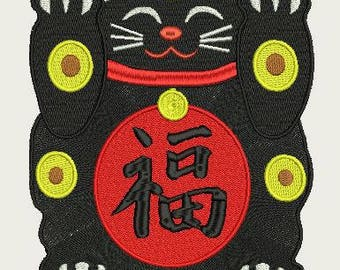 Maneki Neko Lucky Black  Cat 220x220