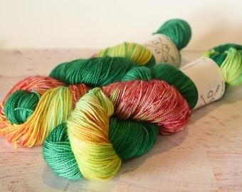 A Time for Dragons - Alabama Sock 80/20 Superwash Merino/Nylon - hand dyed yarn - Ready to ship