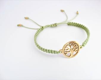 Tree of Life Bracelet, Macreme Bracelet, Yoga Bracelet, Nature Bracelet, Spiritual Bracelet, Bohemian Bracelet