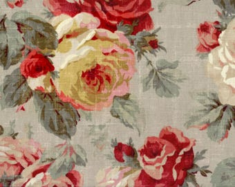 Vintage shower curtain Shabby Chic Shower curtain vintage floral french roses custom fabric shower curtain shower curtain cottage chic gray