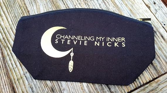 Channeling Stevie Nicks distressed look Large Makuep  Bag
