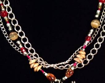 Bejeweled Crab Layered Necklace