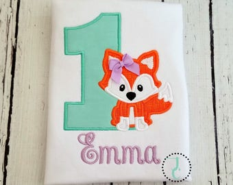 Fox Birthday Shirt - Fox Birthday Girl, Fox Party, Fox Birthday Outfit, 1st Birthday, Girls Fox Shirt, Twin Birthday, Woodland Birthday