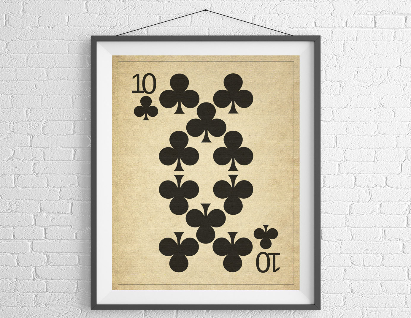 10 of Clubs Playing Card Art, Game Room Decor, Game Room Art, Game ...