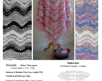 The Cora Shawl pdf ~ Heirloom Knitting ~ Sharon Miller
