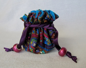 Jewelry Bag - Mini Size - Drawstring Jewelry Tote - Pouch for Jewelry - FLYING TRAPEZE