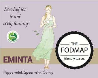 Certified FODMAP friendly loose leaf tea // Eminta // IBS Relief // Tummy Tea // Tea Shop