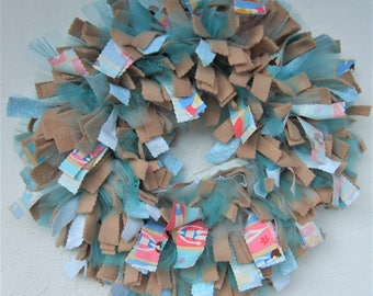 Beach Bathing Beauties Rag Wreath