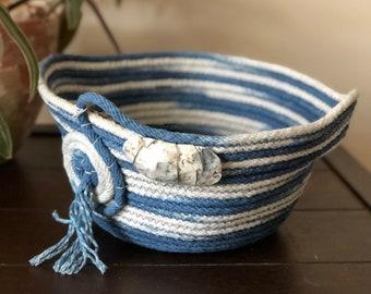 Indigo Rope Basket