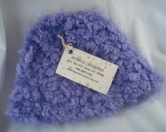 Sparkly Springtime Youth Girls Crocheted Hat in Lilac - 217