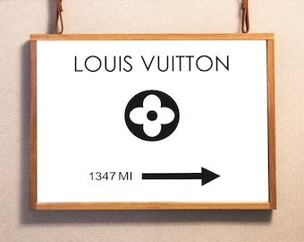 Louis Vuitton Wall Art. Louis Vuitton Poster. LV Wall Art. Fashion Wall Art. LV Poster, LV prints. Louis Vuitton fashion. Mileage Prints.