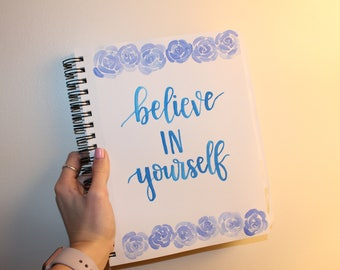 Watercolor Calligraphy Inspirational Quote