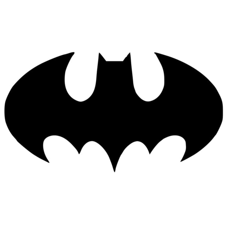 Bat Symbol Batman Stencil Made From 4 Ply Mat Board