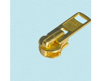 30 sliders and a pack of 30 pcs Zipper Top Stops  YKK #5 Brass