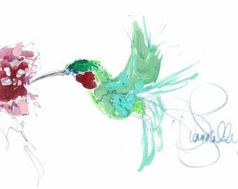 Hummingbird canvas wrap print.