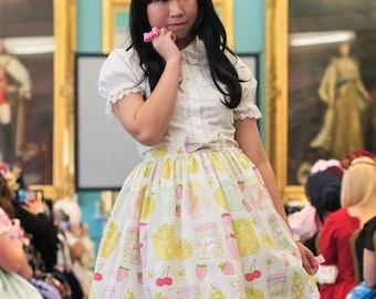 Jam Print Sweet Lolita Skirt