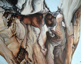 Drifter, original acrylic painting by Michelle Brown / Messy Easel Art Studio