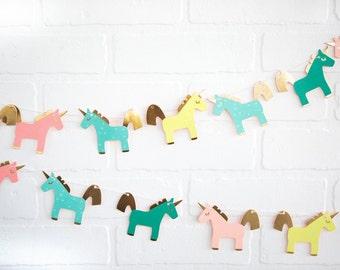 Unicorn Banner, Unicorn Party Decor, Unicorn Birthday, Gold Unicorn, Pastel Unicorn Banner, Unicorn backdrop Banner