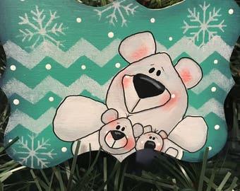Christmas Ornament, Christmas Tree, Bear, Ornament, Teacher Gift, Holiday, Laurie Speltz