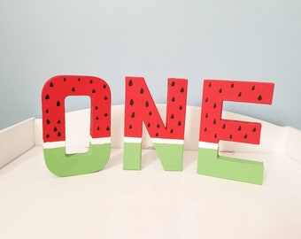 Watermelon first birthday letters, birthday letters, one letters, wedding letters