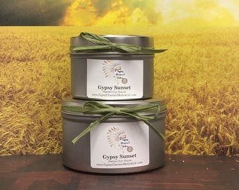 Gypsy Sunset - 4oz Candle - 8oz Candle - Soy Candles - Candles Gifts