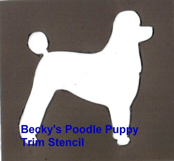 Puppy Bows ~ Poodle toy, mini or standard dog breed plastic craft stencil