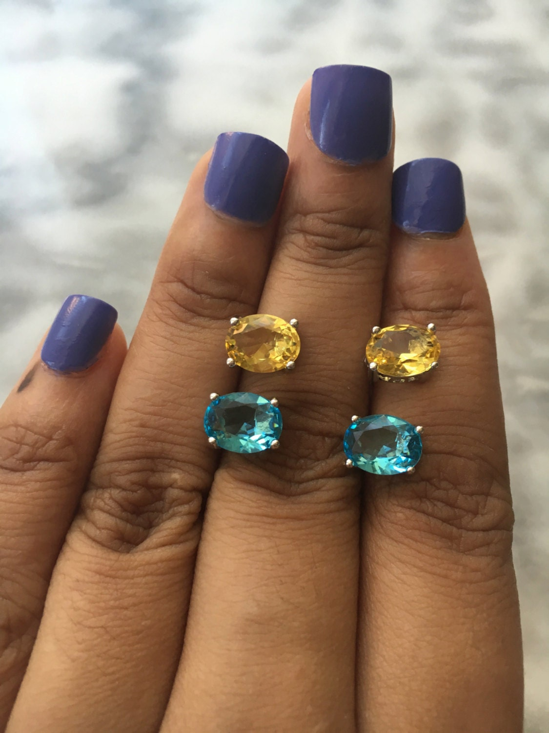 stud aqua s lyst w blue ct tw gold marine in macys earrings macy women t white jewelry designer aquamarine