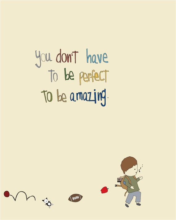 Great Inspirational Art Print, Nursery, Childrens Room, Boy Art, Baby,  Illustration, Cute, Kids Art, Playroom Art, Amazing Is You