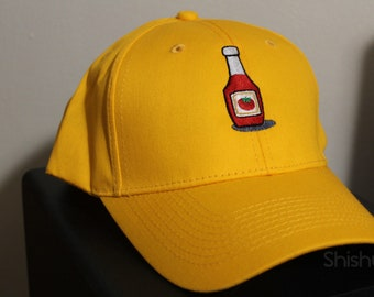 Ketchup Bottle Embroidered Hat