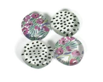 Glass Refrigerator  Magnets  Magnet Set in  Larkin  (M72)