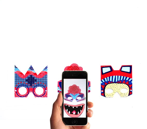MovingMasks - 3 Animated augmented reality masks with the Free App Moving Cards
